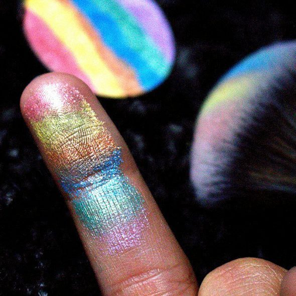 Shiny rainbow at your fingertip.