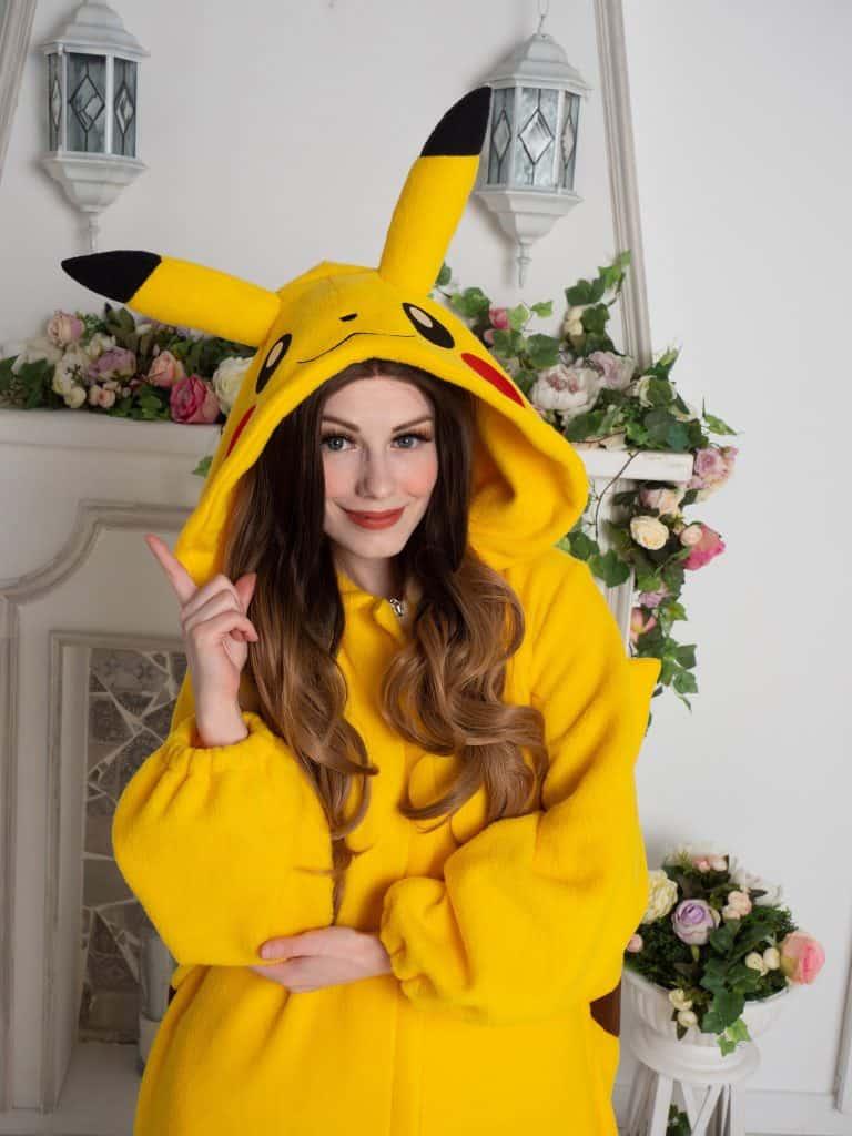 Yotsuba No Clover Pokemon Pikachu Onesie Cool Gift for Her