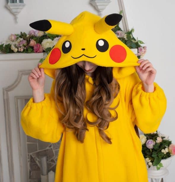 Yotsuba No Clover Pokemon Pikachu Onesie Geek Hoodie
