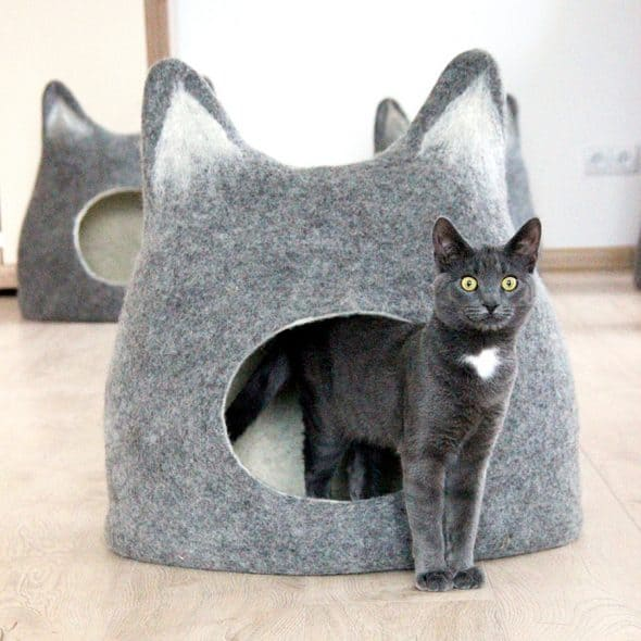 Agnes Felt Cat Cave Made to Order