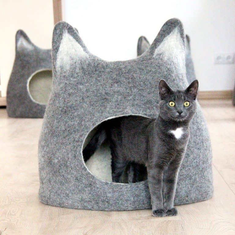 Agnes Felt Cat Cave Made to Order