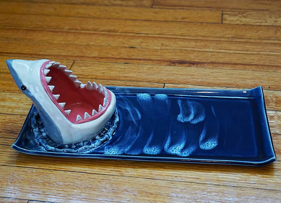 Avi Ceramics Shark Sushi Plate Dishware