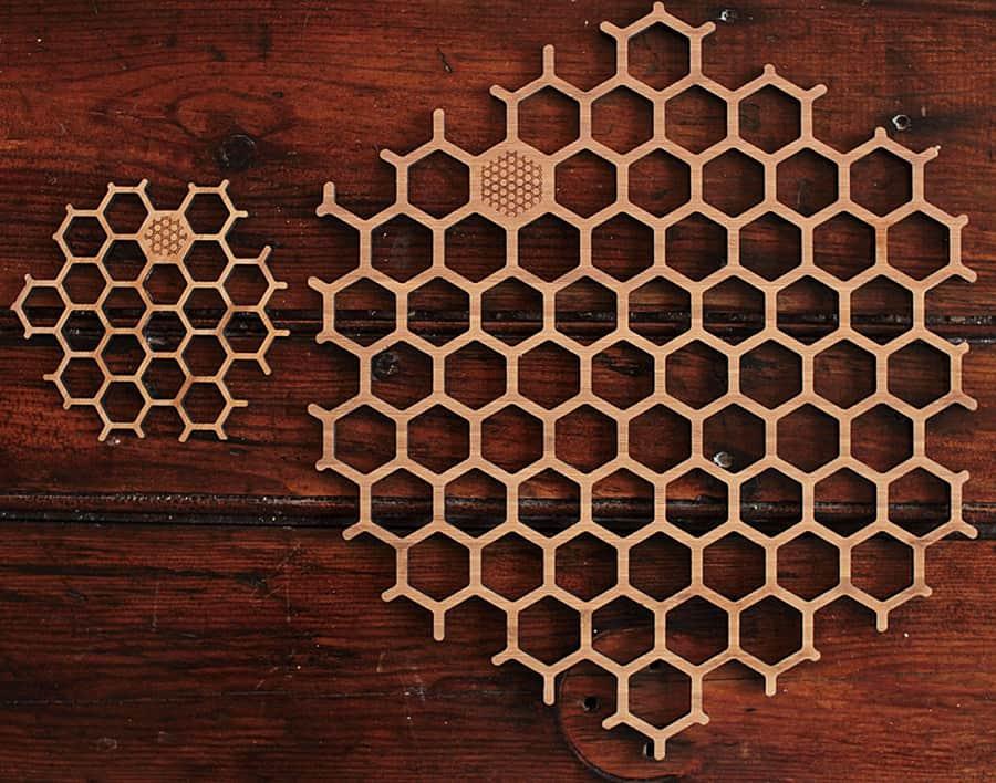 Bu Bamboo Honeycomb Place Mat Amp Coaster Set Noveltystreet
