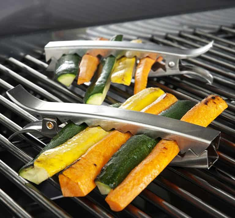 Charcoal Companion Stainless Grill Clips Easy way to Grill Vegetables
