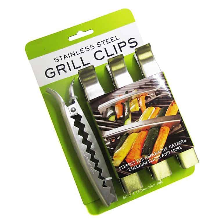 Charcoal Companion Stainless Grill Clips Good for Indoor and Outdoor