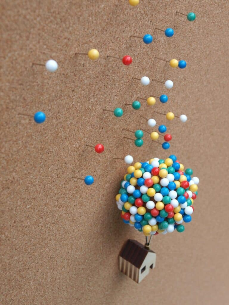 Clive Roddy Up-inspired Balloon Pin House Pin Board Accent