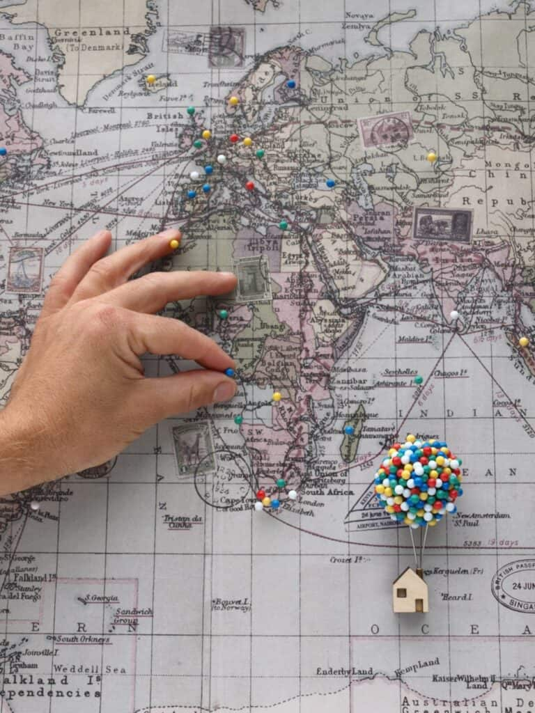 Clive Roddy Up-inspired Balloon Pin House Travel Map Marker