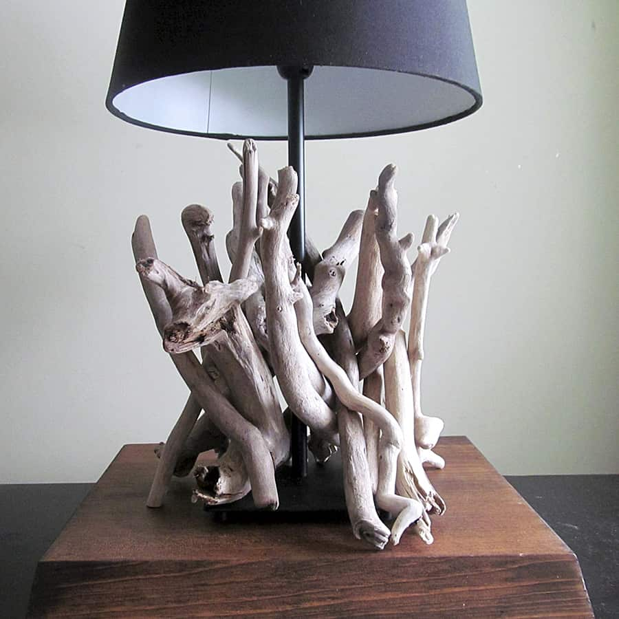 Drifting Concepts Driftwood Table Lamp Handmade