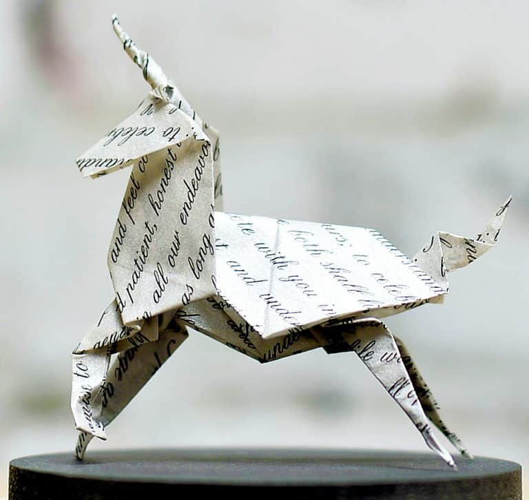 Florigami-Shop-Unicorn-Origami-Sculpture-Written-Paper-Artwork