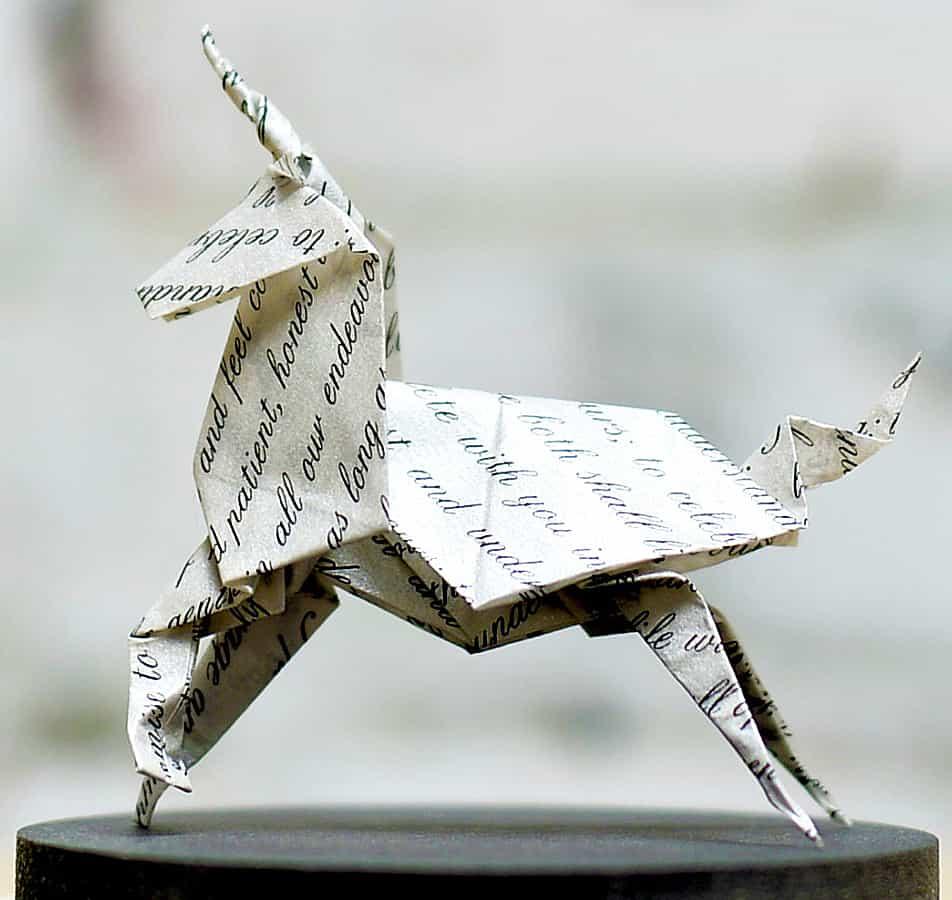 Florigami-Shop-Unicorn-Origami-Sculpture-Written-Paper-Artwork