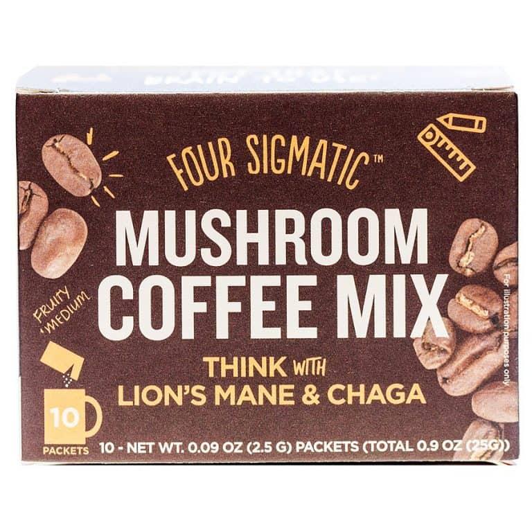 Four Sigma Foods Mushroom Coffee All Natural Superfood