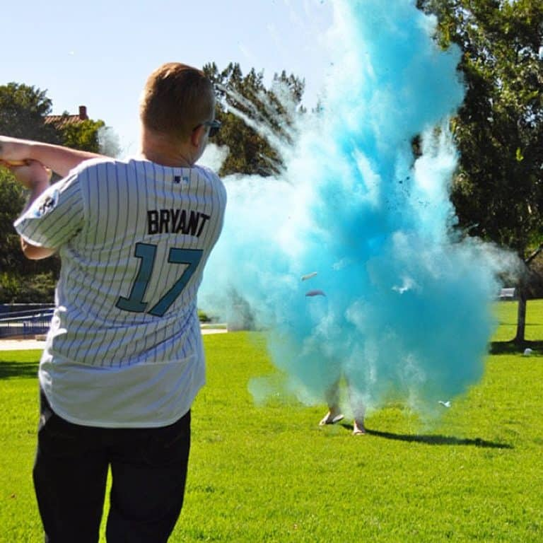 Gender Reveal Baseballs Colored Powder