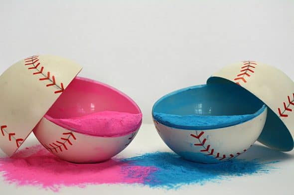 Gender Reveal Baseballs Novelty Item