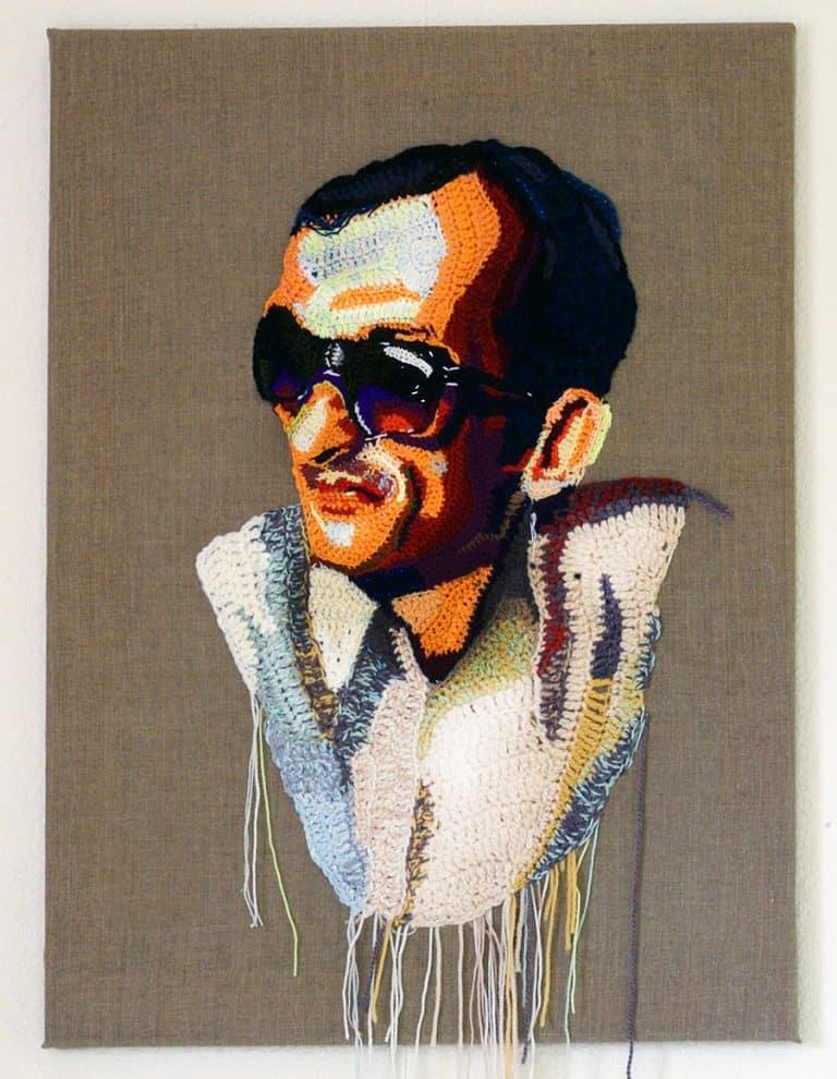 Katika Crochet Art Portrait on Canvass