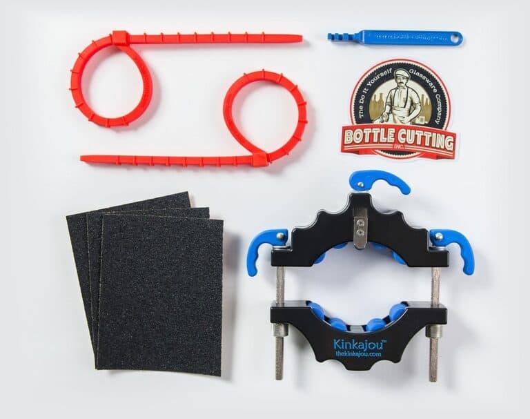 Kinkajou Bottle Cutter Black and Blue Set