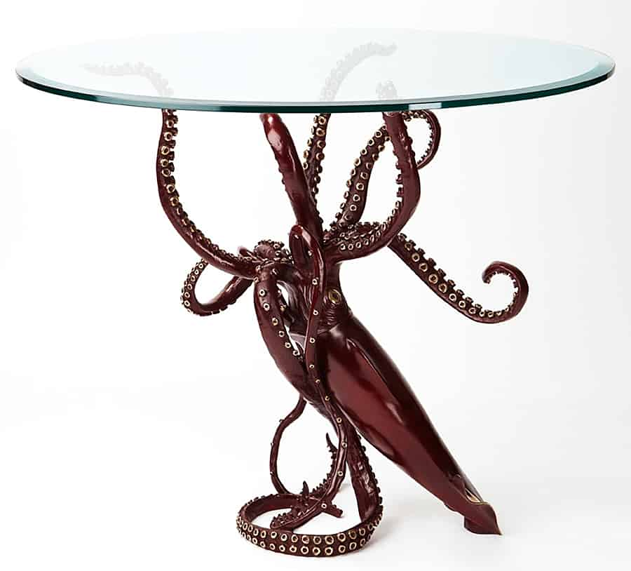 Kirk McGuire Sculpture Giant Bronze Squid  Great Interior Design