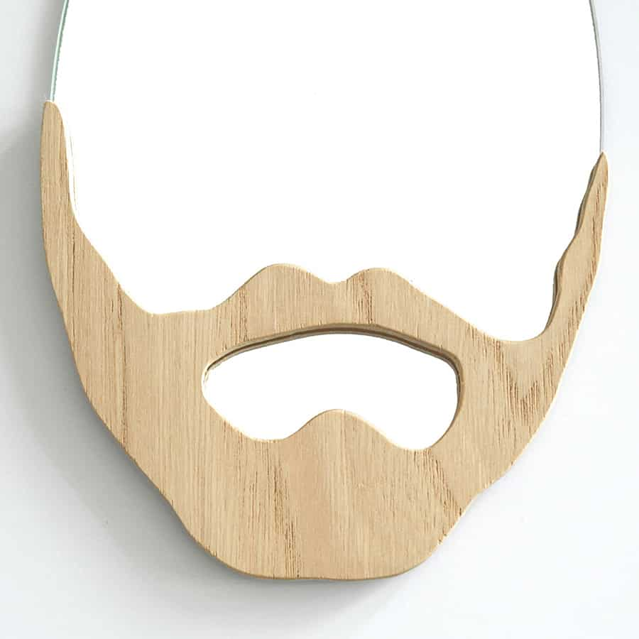 L'Atelier Virgile Wood Beard Mirror Made with Plywood