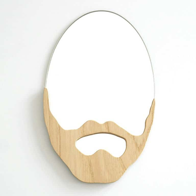 L'Atelier Virgile Wood Beard Mirror Perfect Gift for Beard Fans