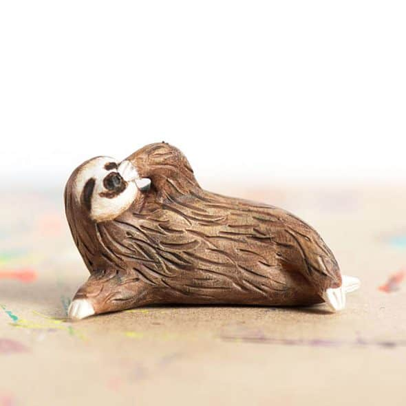 Le Animale Le Pondering Sloth Totem Polymer Clay