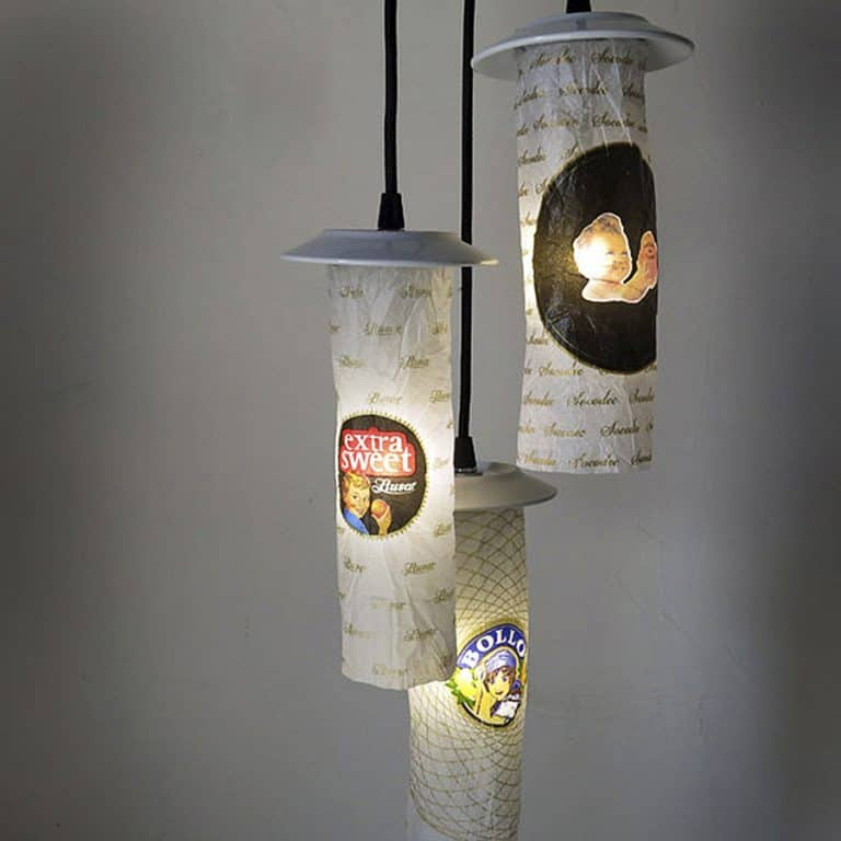 Lumpo Luminaires Wrapping Paper Ceiling Lamp Lamp Sculptures