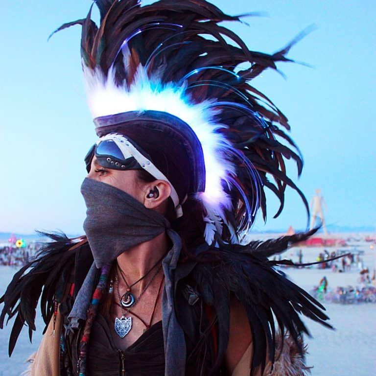 Playaborn Warrior Feather Mohawk Handmade