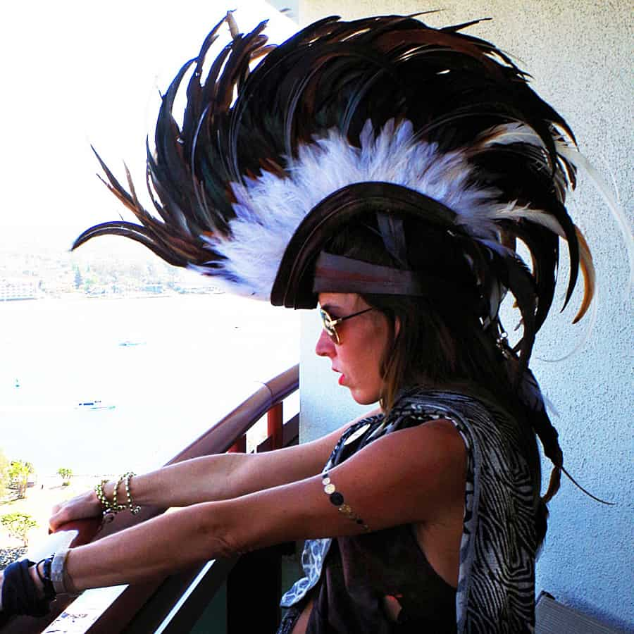 Playaborn Warrior Feather Mohawk Novelty Item