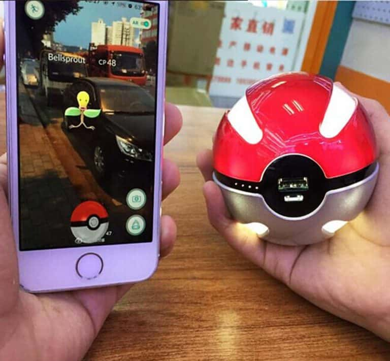 Pokeball Power Bank Emergency Power Source