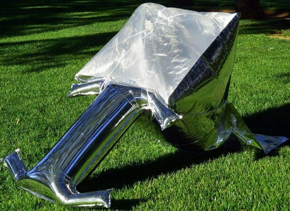 Silver Balloon Solar Cooker Great for Emergency Preparedness