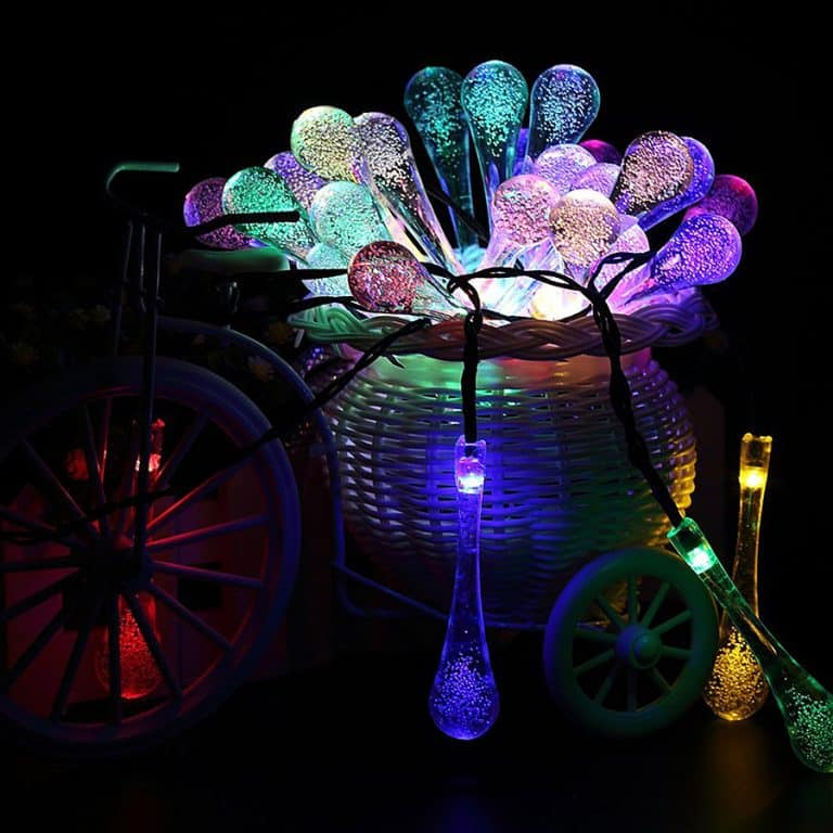 Solar Powered String Lights No Conventional Energy Consumption