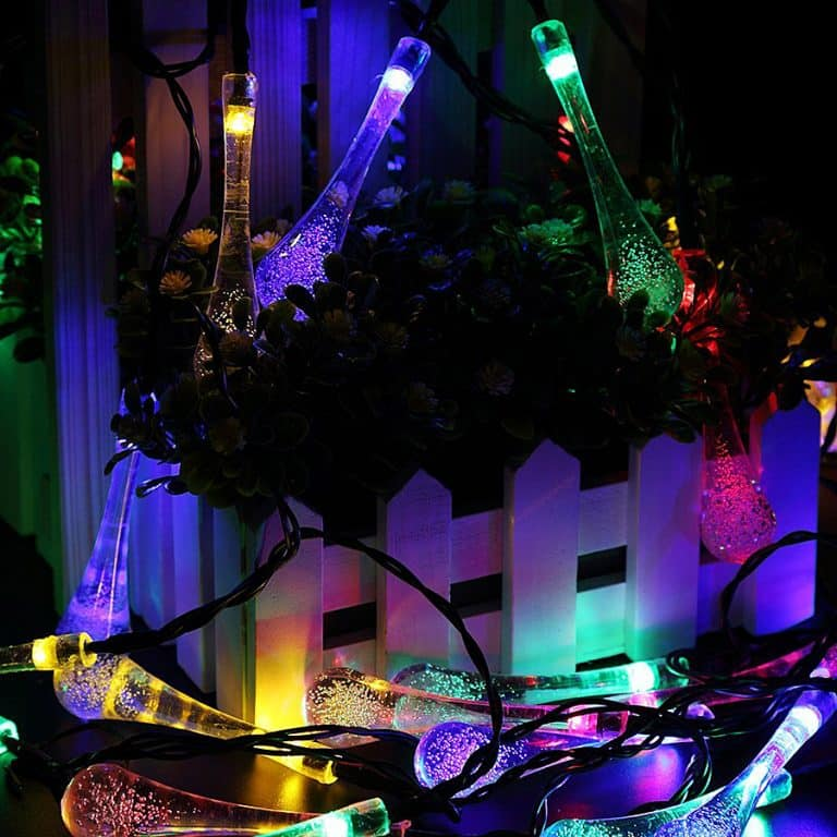 Solar Powered String Lights Suitable for Outdoor Use