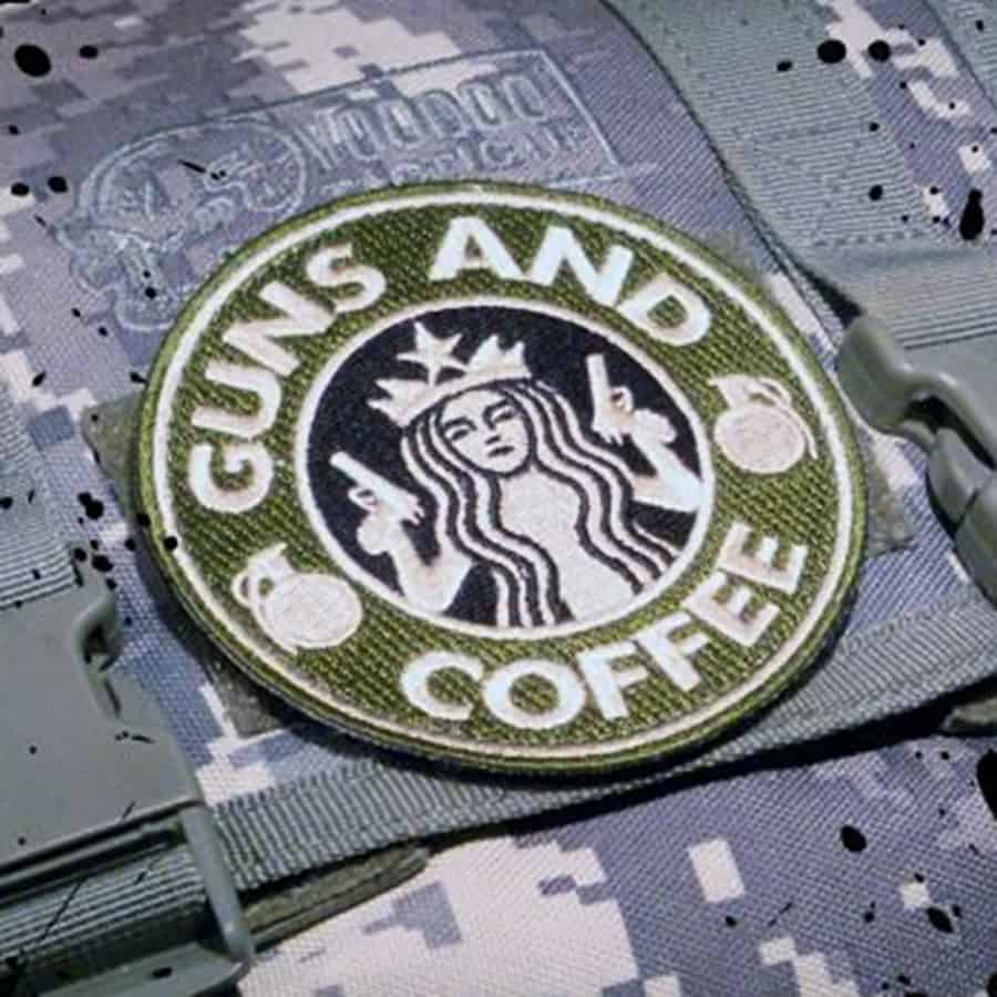 Tactical caffeinated fashion sense.