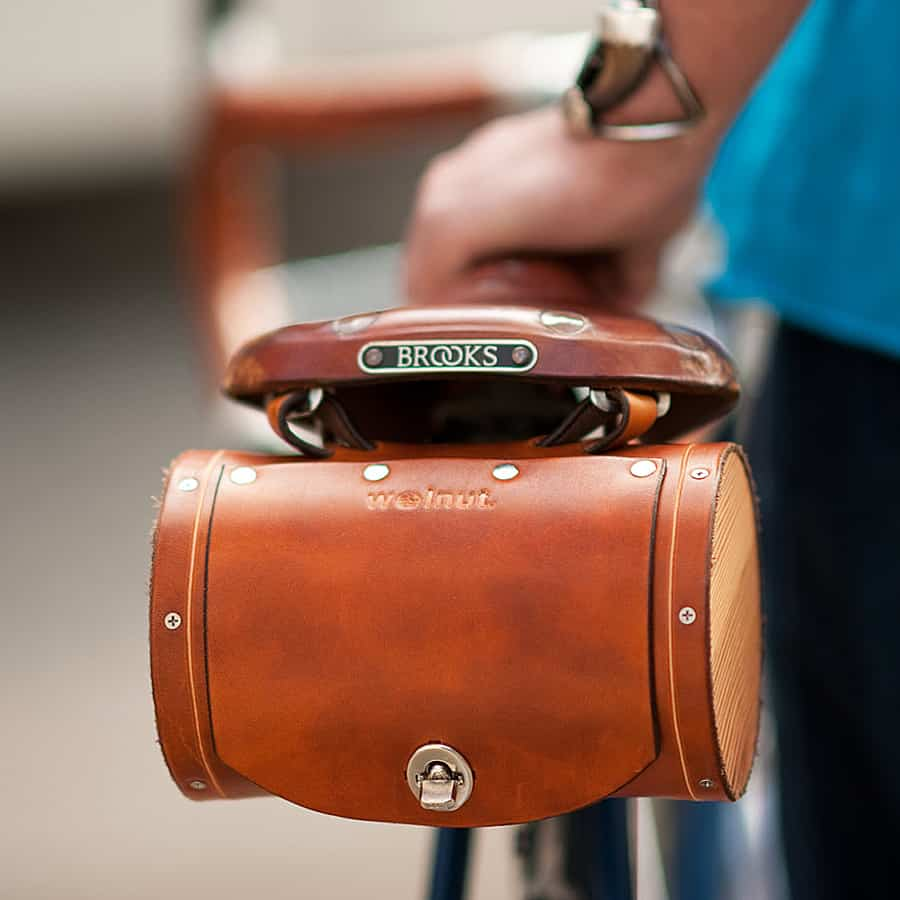 Walnut Studiolo Seat Barrel Bag Bike Accessory