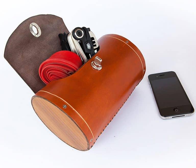 Walnut Studiolo Seat Barrel Bag Saddle Bag