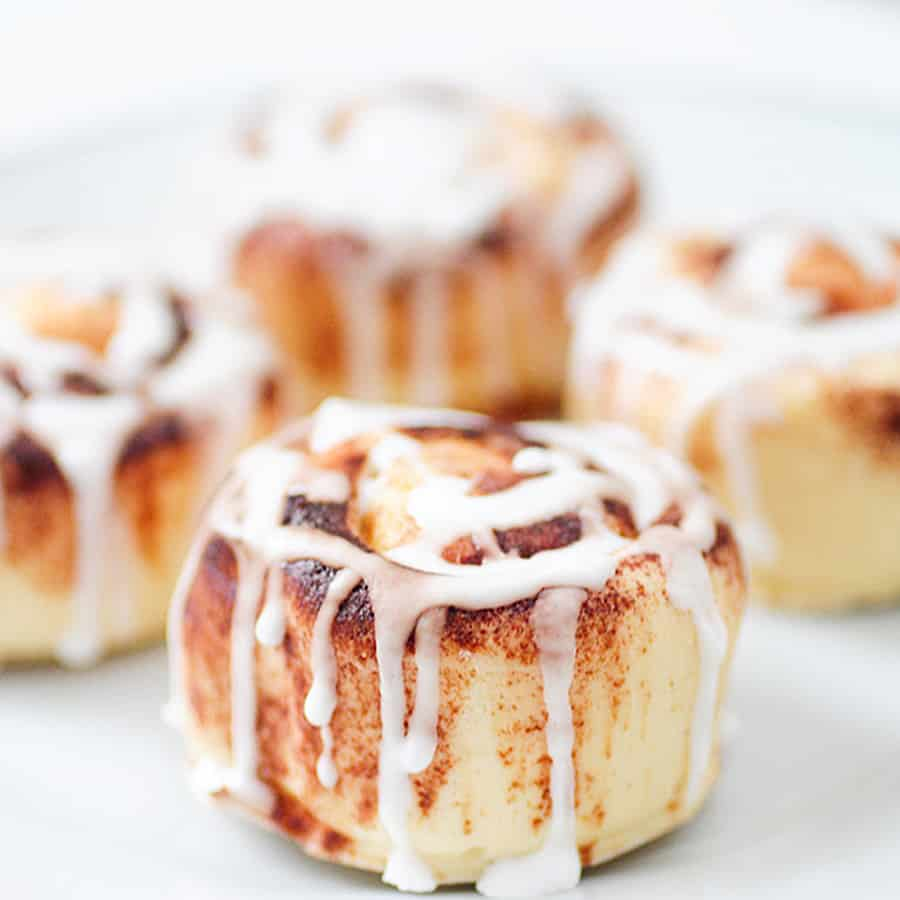 Morning showers are sweeter with a cinnamon bun.