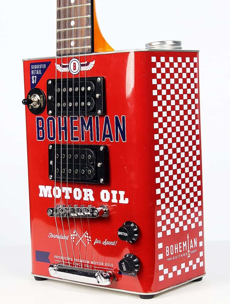 Bohemian Guitars Boho Motor Oil Recycled Metal Hollow Body