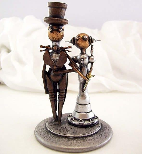 builders-studio-elegant-robot-couple-wedding-cake-topper-figurines