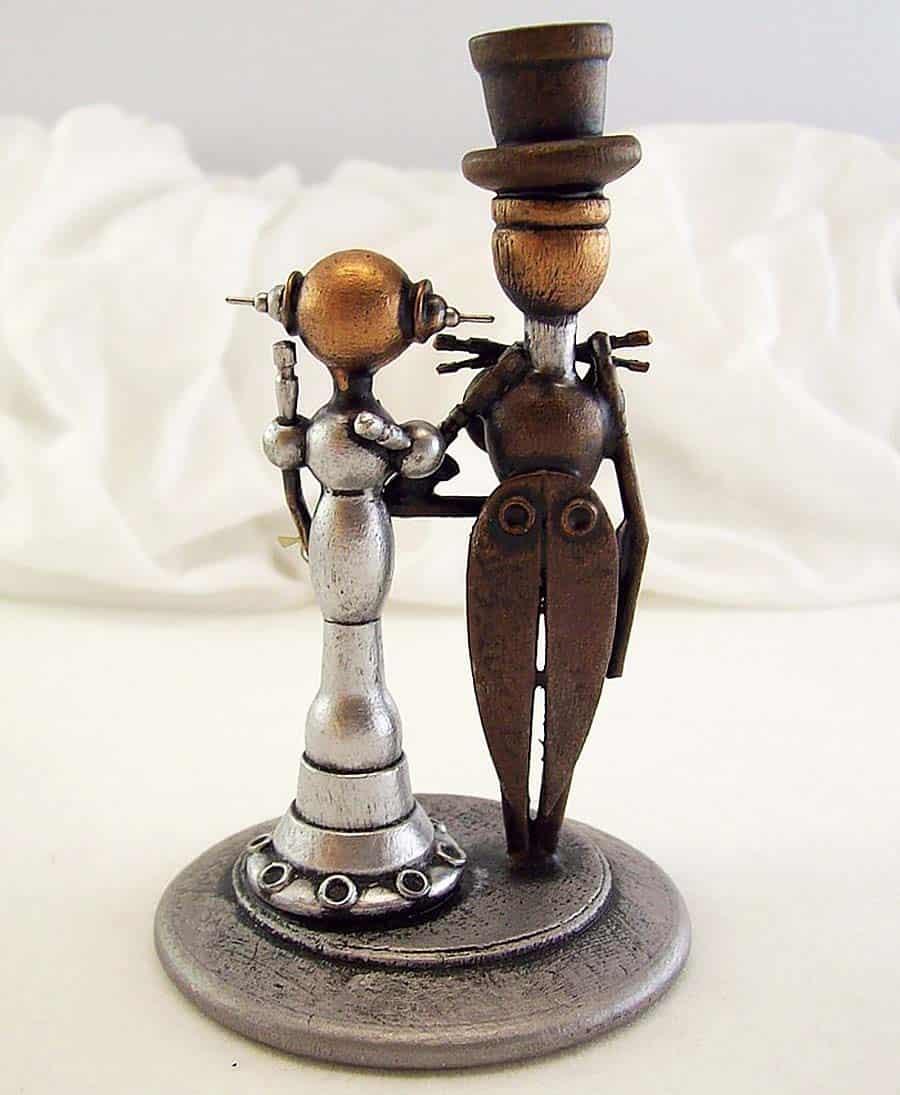 builders-studio-elegant-robot-couple-wedding-cake-topper-table-decoration