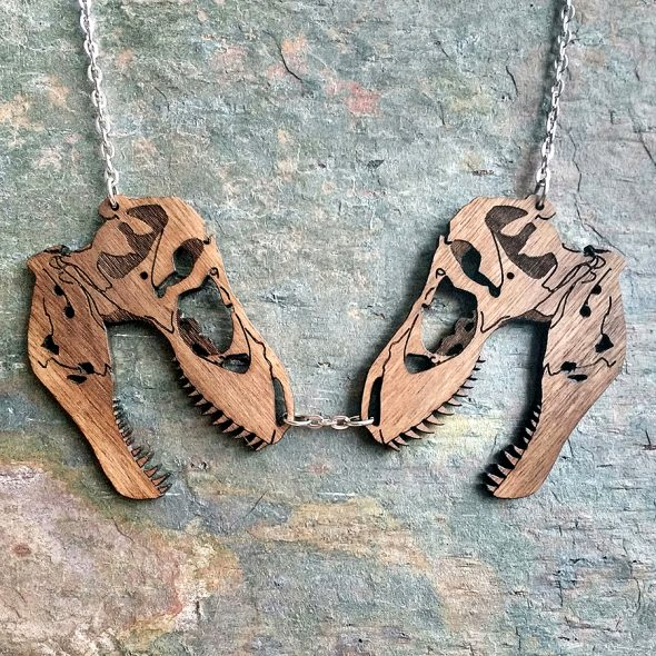 You can't go wrong with a pair of T-Rex skulls.
