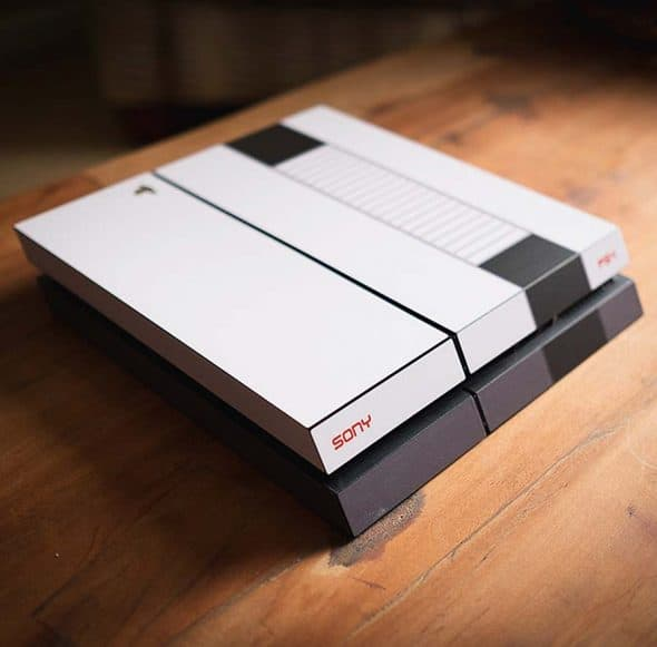 decal-girl-retro-nes-style-ps4-skin-play-station-console