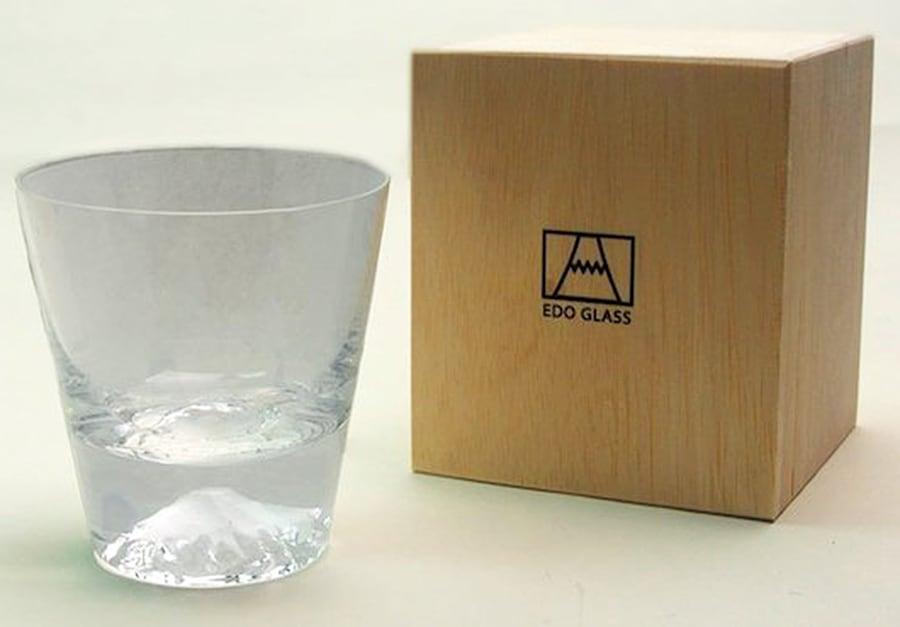 Edo Glass Mt Fuji Whiskey Glass Noveltystreet