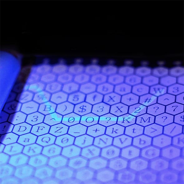 Enigmaze Password Journal Tricolor Invisible Ink