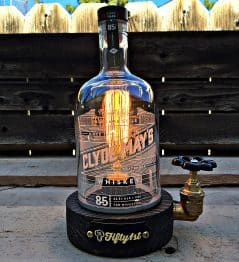 This whiskey bottle will surely brighten up your day.