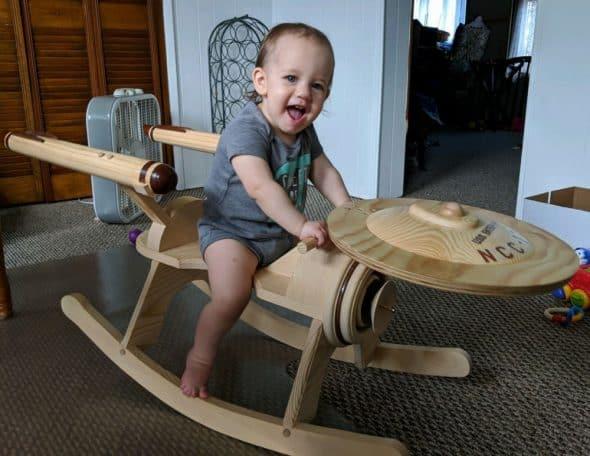 G and G Rockers Star Trek Enterprise Rocker Cool Baby Gift Idea