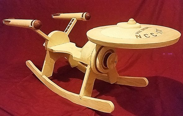 G and G Rockers Star Trek Enterprise Rocker Custom Handmade