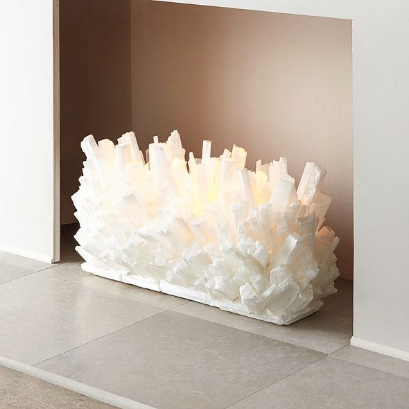 Elegant fireplace sculpture that rocks.