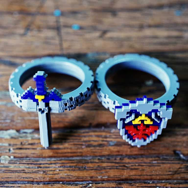 nastalgame-zelda-hyrule-shield-and-master-sword-ring-acrylic-plastic-rings