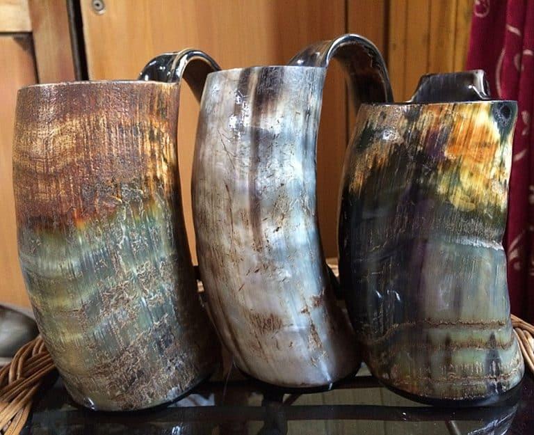 The Mughal Bazaar Horn Beer Mug Hand Crafted