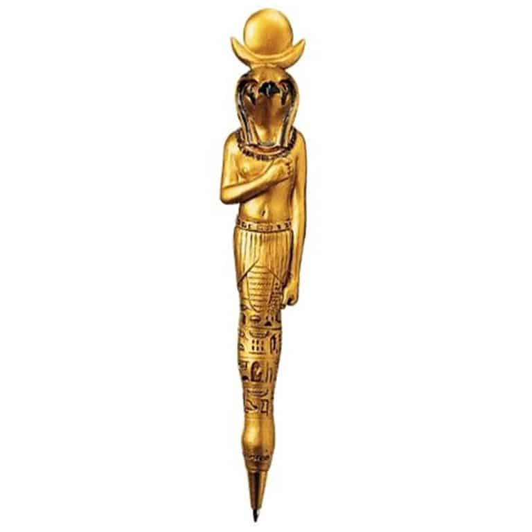 ancient-egyptian-sculptures-collectible-pens-falcon-god