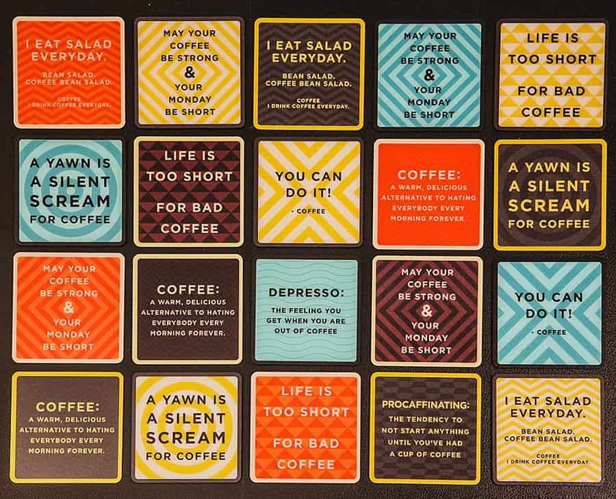 Beyond Acrylic Coffee Quotes Coffee Coasters Noveltystreet