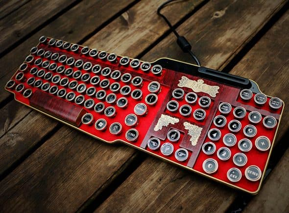 Bing Hand Craft Red Steampunk Keyboard Noveltystreet